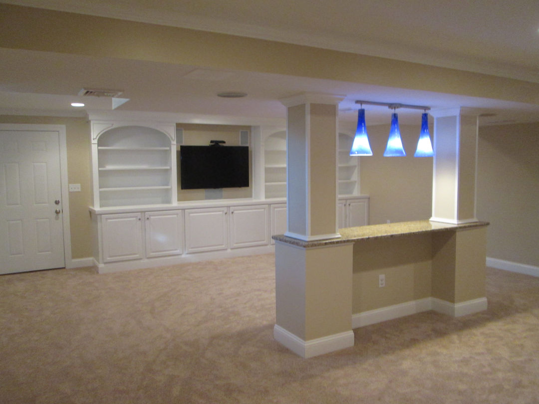 Heather P., Finished Basement Custom Built Ins In Norwalk, Ct