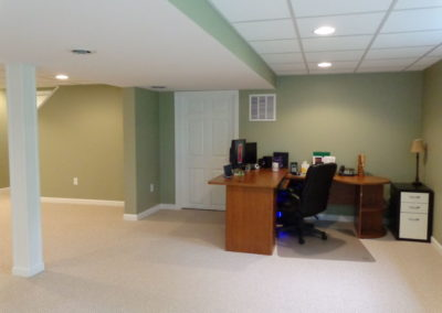 Connecticut Basement Home Office Renovation