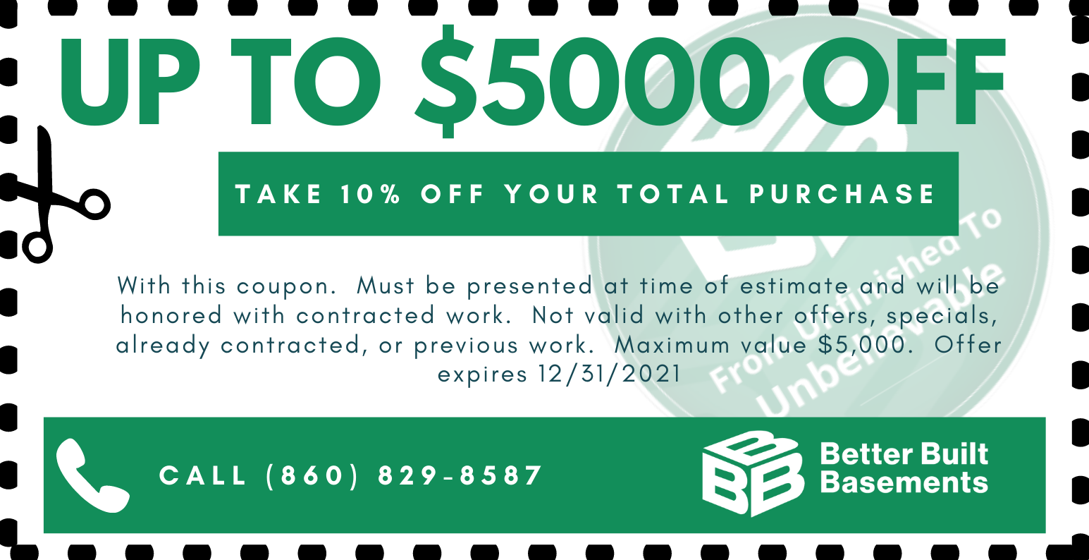 Up To $5000 Off Your Basement Project